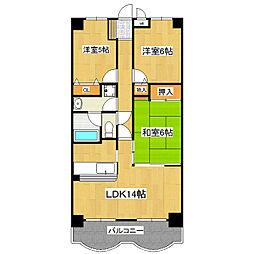 センチュリー時計台I[3階]の間取り