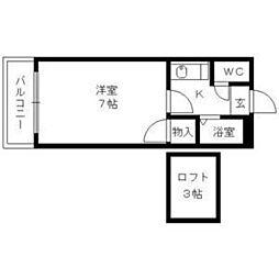 シャトレ隈2[1階]の間取り