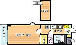 セトル熊西[2階]の間取り