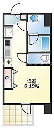 O-KYO 3階1Kの間取り