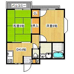 東京都練馬区関町東2丁目の賃貸マンションの間取り