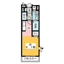 ハーモニーI・II・III[2階]の間取り