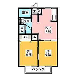 ディアス笠寺[2階]の間取り