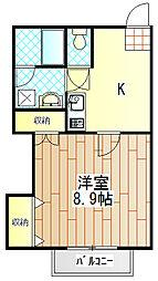 メゾン甲南[2階]の間取り