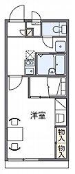 レオパレスM−1[2階]の間取り