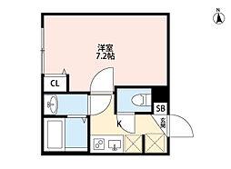 ルミエール・リッシュ松江[303号室]の間取り