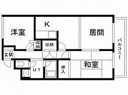 藤枝ハイツ[4階]の間取り