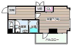 大阪府大阪市北区大淀南3の賃貸マンションの間取り
