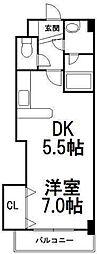 コンパス琴似[3階]の間取り