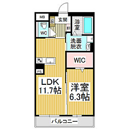 (仮)広丘高出ブレインマンション[5階]の間取り