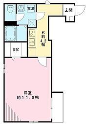 東京都板橋区幸町の賃貸アパートの間取り