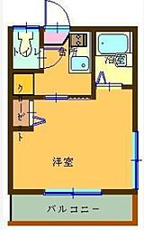 東京都荒川区西尾久1丁目の賃貸アパートの間取り