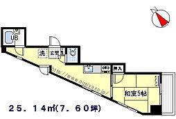 プチメゾンド榎本[603号室]の間取り