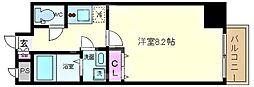 Y&Rino Residence(ワイアンドリノレジデンス) 2階1Kの間取り