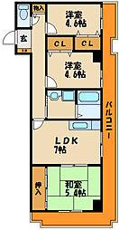 シルクステージ[4階]の間取り