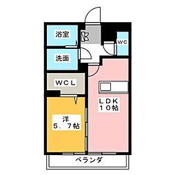 グローバルヒルズ[3階]の間取り