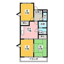 ハイツ須賀[1階]の間取り