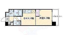 アクアプレイス京都洛南II 2階1DKの間取り