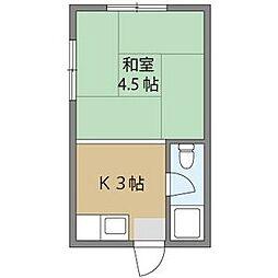 ひろみ荘[2階]の間取り