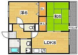 マインA棟[2階]の間取り