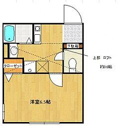 クレア橋本[1階]の間取り