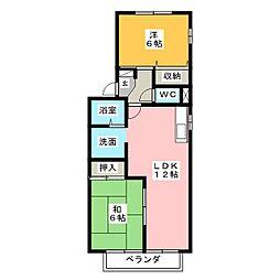 ドエル花水木[1階]の間取り