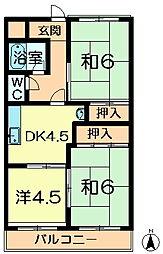 池田ハイツ[1階]の間取り