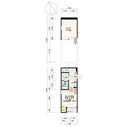 T-Residence 1 1階1Kの間取り