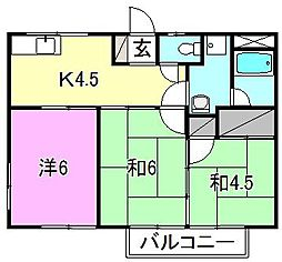 コーポ安田[203 号室号室]の間取り
