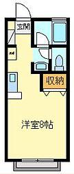 東京都三鷹市井口1丁目の賃貸アパートの間取り