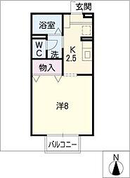 セジュールオオハシ[1階]の間取り