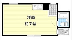 サンライズ姫島[2B号室]の間取り