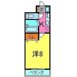 ココシャルムII[211号室]の間取り