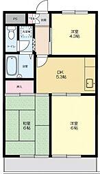 ウィスタリアマンション[307号室号室]の間取り