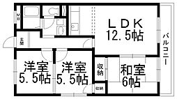 東神田マンション[0202号室]の間取り