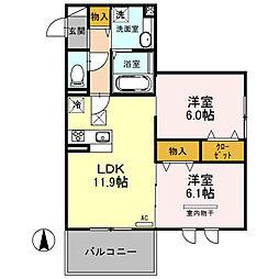 (仮)D-room南鳩ヶ谷2丁目[103号室]の間取り