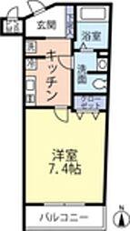 ランヴィ四谷三栄町 1階1Kの間取り