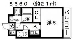 ASUKI COURT(アスキコート)[406号室号室]の間取り