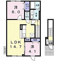 ボンヌールコート[2階]の間取り
