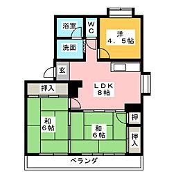 メゾン山田[1階]の間取り