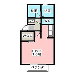 静岡県静岡市葵区新富町3丁目の賃貸アパートの間取り