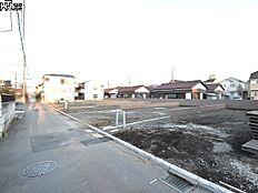 接道状況および現場風景 国分寺市富士本1丁目