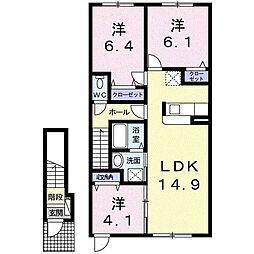 メゾンカムイ[2階]の間取り