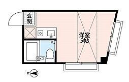 西武池袋線 所沢駅 徒歩10分の賃貸マンション 3階ワンルームの間取り