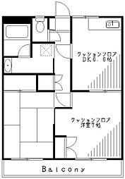 ハイムフォーリーII[2階]の間取り