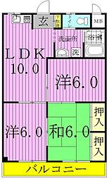 エステートMASUDA[2階]の間取り