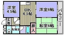 ムカイマンション A棟[A303号室]の間取り