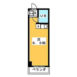 COURT HOUSE・AKAO[2階]の間取り