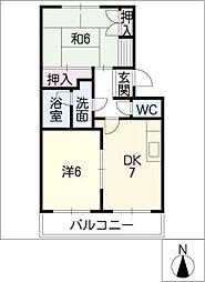 ハイツ笠山[2階]の間取り