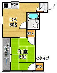 ファミリーハイツ8[4階]の間取り